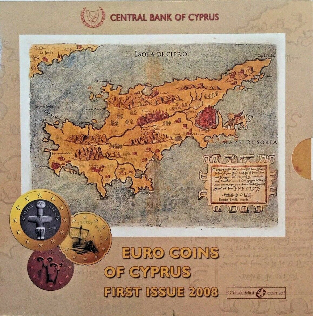 Cyprus 2008 Complete Official Euro Set 8 Coins First Issue