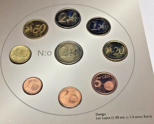 2006 Euro Set 9 Coins 100 years Universal Equal Suffrage in Finland Version 2