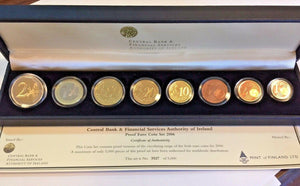 Ireland 2006 Official Euro Proof Set 8 Coins Special Edition Box Certificate