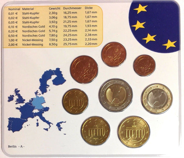 Germany 2003 Official Euro Coins Set Special Edition Berlin Mint A Deutschland