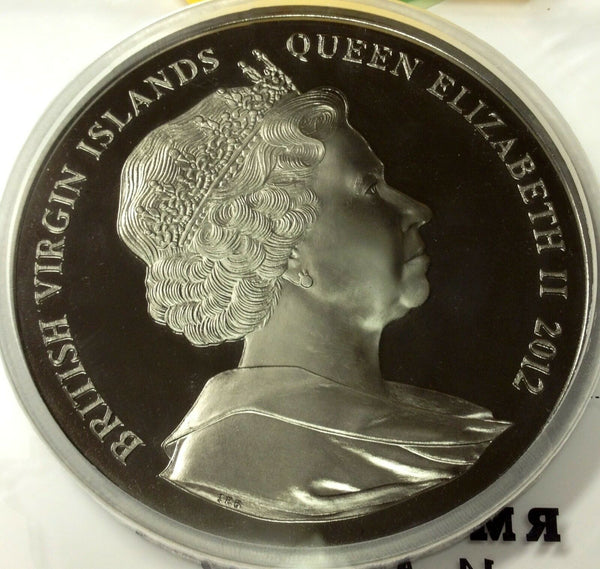 Rare British Virgin Islands 2012 Large 1 kilo Silver Coin Titanic 1912-2012