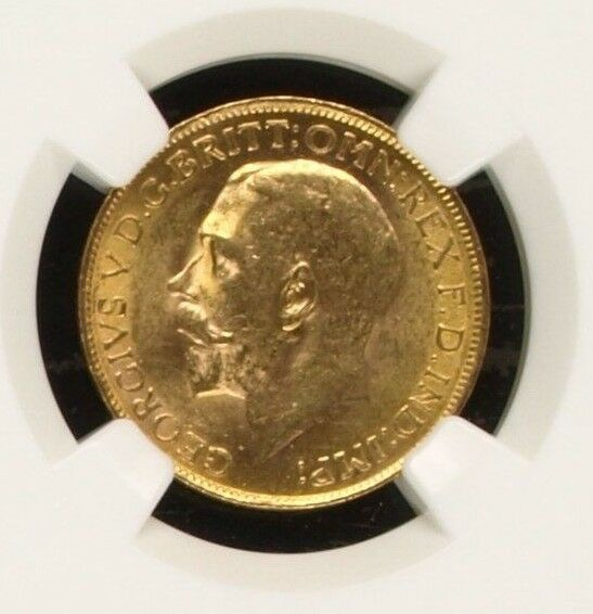 South Africa 1926 SA Gold Coin Full Sovereign King George V NGC MS62