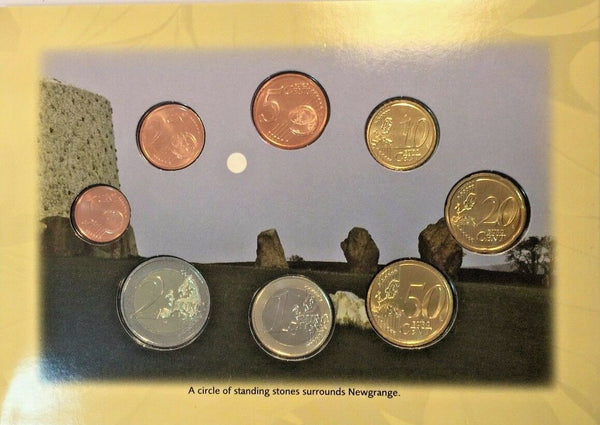 Ireland 2008 Euro Set 8 Coins Newgrange Bru na Boinne Co Meath Special Edition