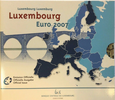 2007 Luxembourg 8 Coins Official Euro Set Special Edition