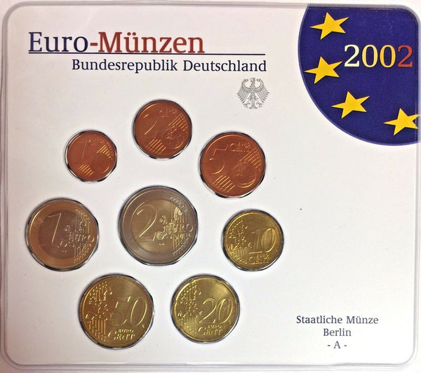 Germany 2002 A Euro Official Coin Set Special Edition Berlin Mint Deutschland