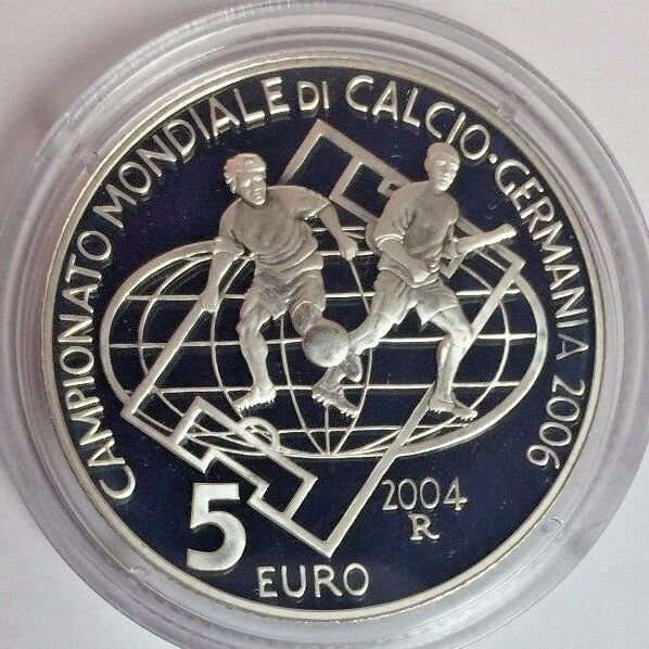 San Marino 2004 Set 10€ & 5€ Silver FIFA World Cup Germany 2006 Soccer Football