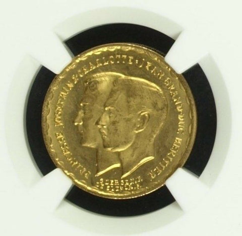 Luxembourg 1953 Gold 20 Francs Royal Marriage NGC MS66