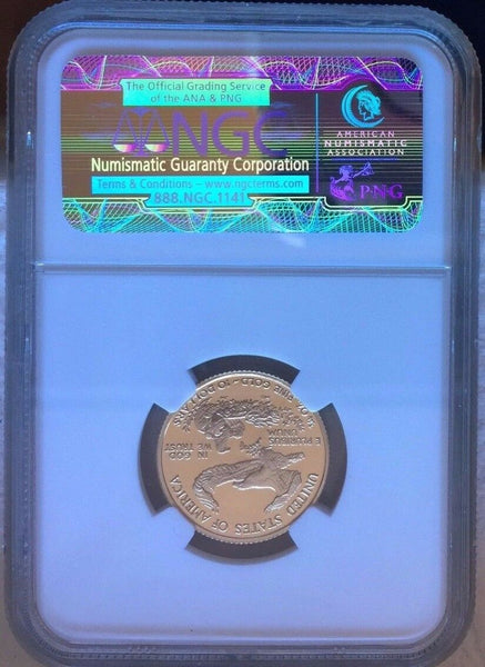 2001 W Gold $10 American Eagle Proof Coin 1/4 oz United States NGC PF69