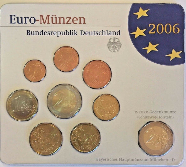2006 D Germany Euro Official Coin Set Special Edition München Mint Deutschland