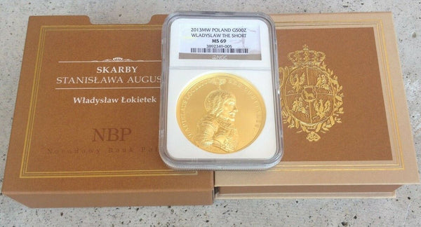 2013 Poland Gold 500 Zloty Coin Wladyslaw the Short Lokietek NGC MS69 Mint.-750