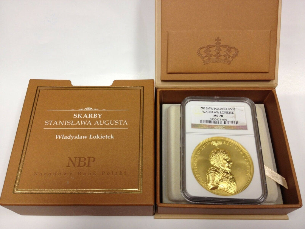 2013 Poland Gold 500 Zloty Coin Wladyslaw The Short Lokietek NGC MS70 Box COA