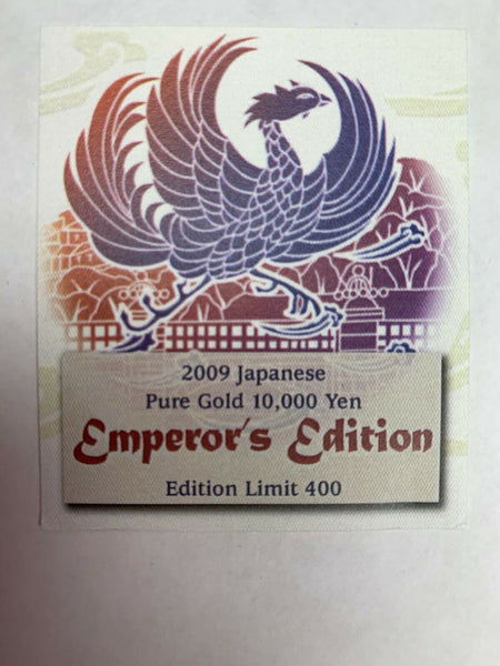 Japan 2009 Gold 10K Yen 20th Anniv. Reign of Emperor Heisei PCGS Mintage-400