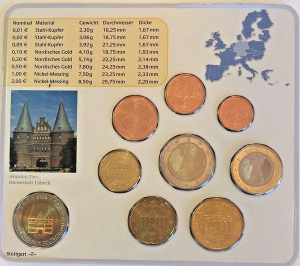 2006 F Germany Euro Official Coin Set Special Edition Stuttgart Mint Deutschland