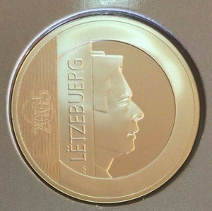Luxembourg 2005 Silver Proof Coin 25 Euro Presidency EU Council Low Mintage