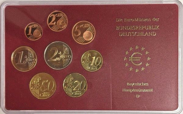 Germany 2003 G Official Euro Coin Set Karlsruhe Mint Special Edition Deutschland