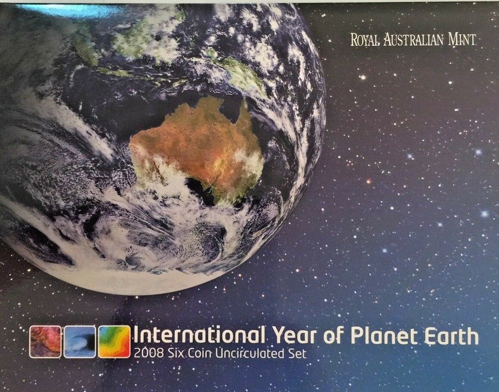 2008 Australia Set 6 coins International Year of Planet Earth Royal Mint