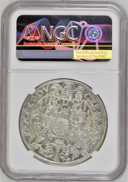 Germany 1595 Silver Thaler Saxony Albertine 3 Brothers NGC