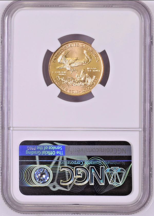 2020 American Gold Eagle $10 NGC MS70 United States of America 1/4 oz