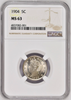 United States 1904 Liberty Head 5 Five Cents Copper-Nickel Coin NGC MS63