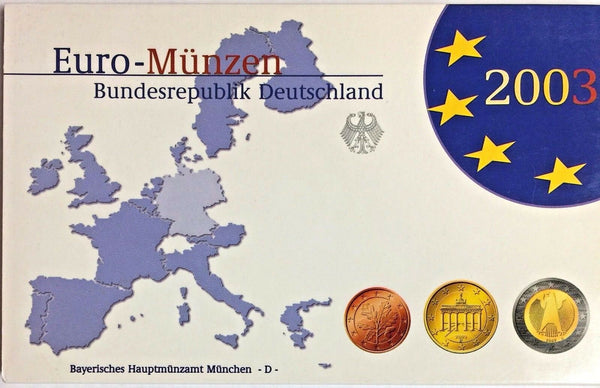 Germany 2003 D Euro Official Coin Set München Mint Special Edition Deutschland