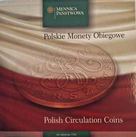 Poland 1995, 1996, 2003 Set 9 Polish Circulation Coins Official Special Edition