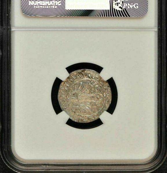 1561 Poland Silver half Groschen Lithuania Sigismund August NGC MS62