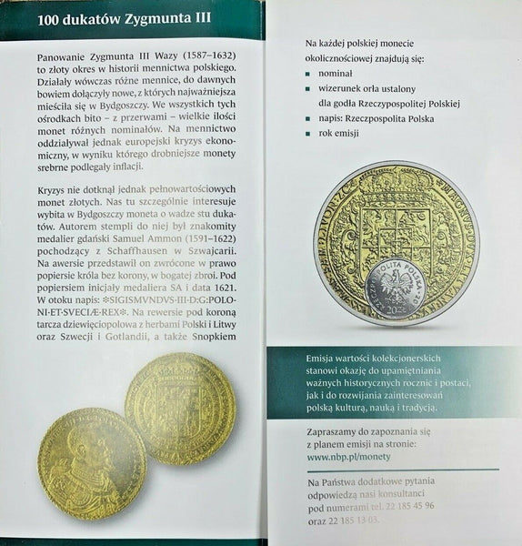 2017 Poland Silver Gilt 20 Zloty golden 100 ducats of King Sigismund Vasa