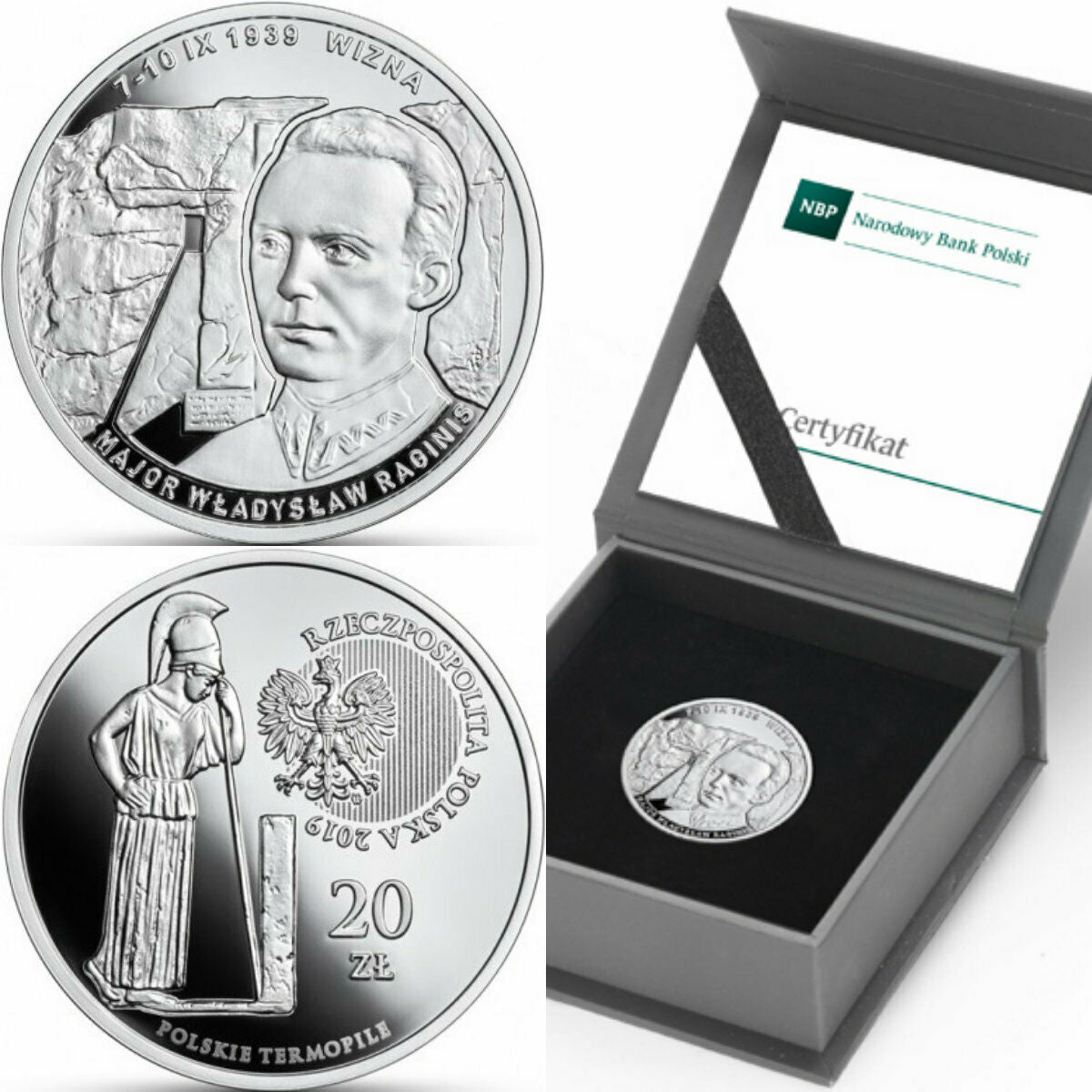 2019 Poland Silver Proof Coin 20 Zloty The Polish Thermopylae – Wizna Box COA