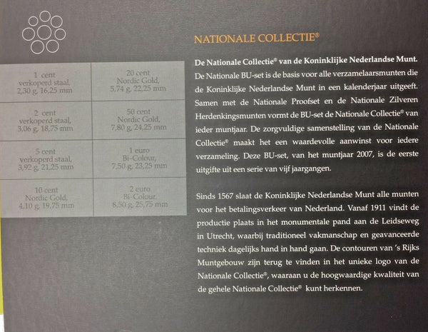 2007 Netherlands 8 Euro Coins Set National Collection Special Edition Holland