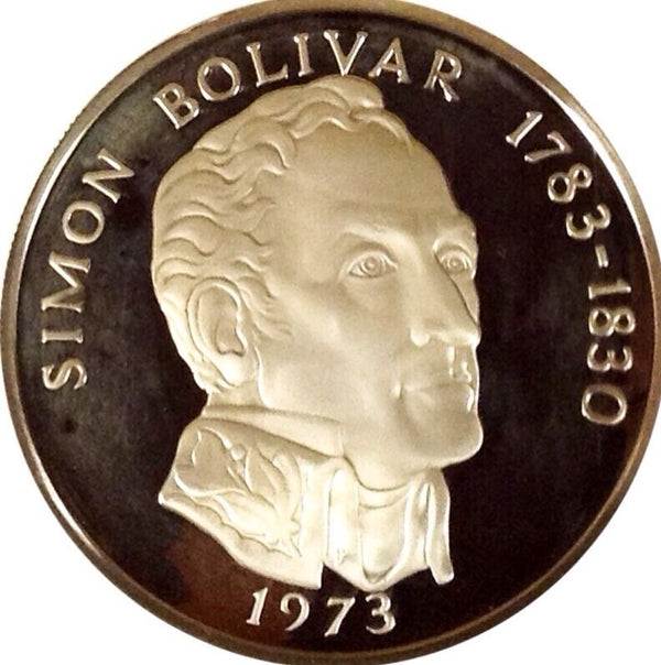 1973 Panama 20 Balboas Simon Bolivar almost 4 Oz Proof Silver NGC PF67