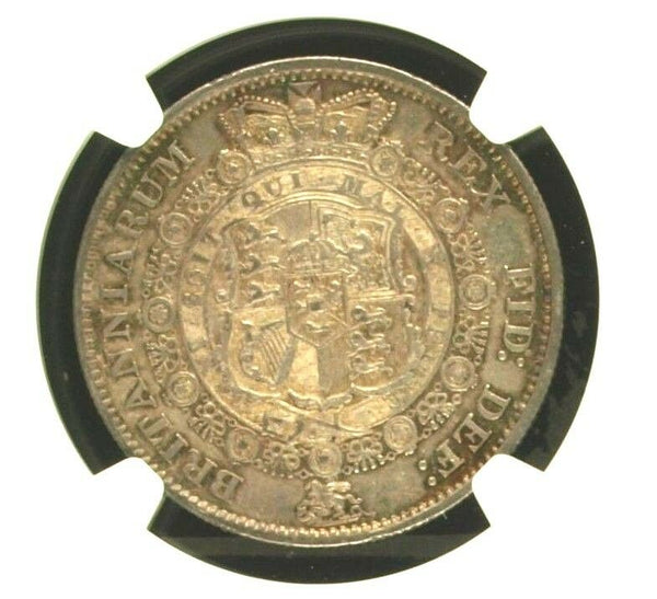 Great Britain 1816 Half Crown Silver Coin GEORGIUS III DEI GRATIA NGC AU50