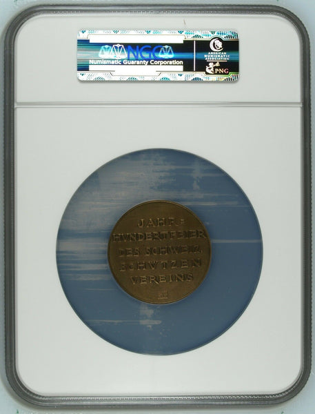 Swiss 1924 Set 2 Shooting Medals Aargau Aarau R-45a R-45c Switzerland NGC MS63