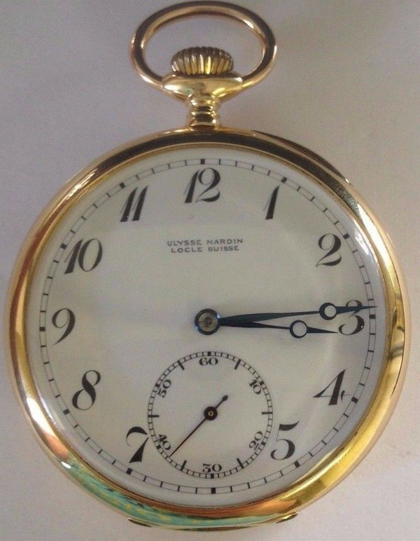 Swiss 1924 Gold Shooting Watch Aarau Aargau Switzerland Ulysse Nardin Very Rare