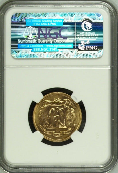 Dominican Republic 1974 Gold 30 Pesos 12th Central American Games NGC MS67