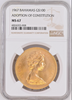 Bahamas 1967 Set 4 Gold Coins Adoption of Constitution NGC PF65-68