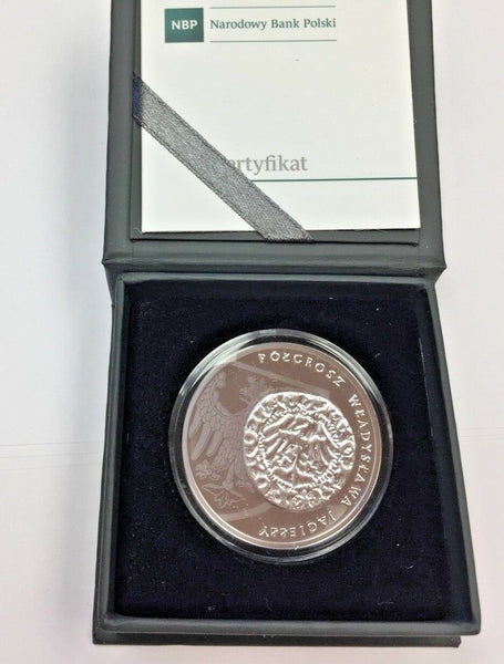 2015 Poland Silver Coin 20 Zloty The Half Grosz of Ladislas Jagiello Box COA