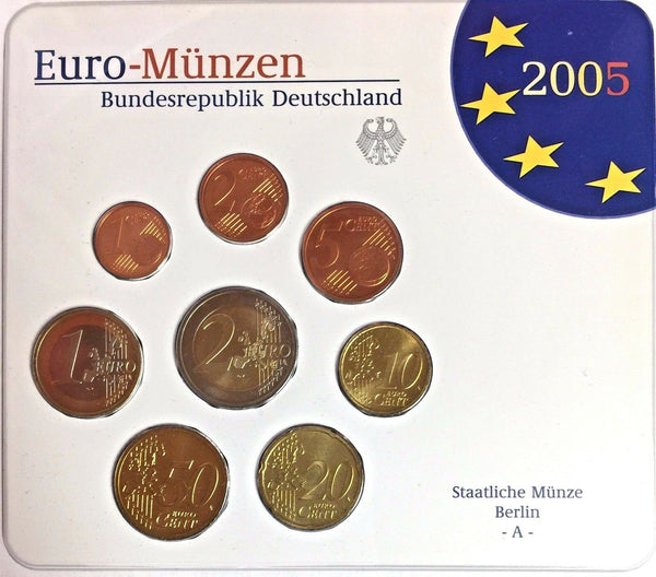 2005 A Germany Official Euro Coins Set Special Edition Berlin Mint Deutschland