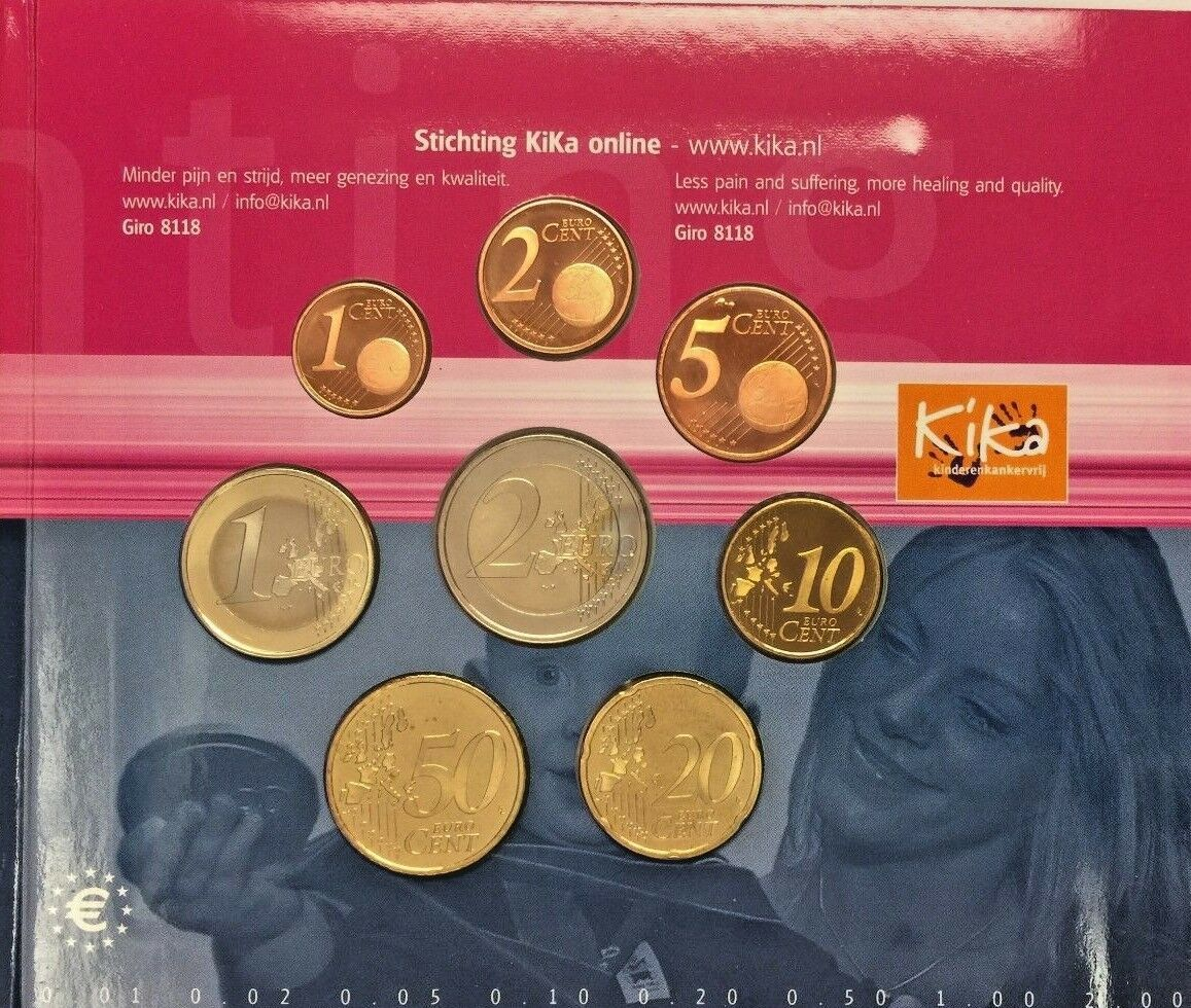 2006 Netherlands 8 Euro Coins Set KiKa Foundation Special Edition Holland