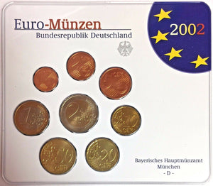 Germany 2002 Euro Official Coin Set Special Edition München Mint D Deutschland