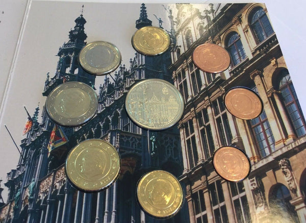 2005 Belgium 8 coins Medal Euro Set Grand Place Bruxelles Grote Markt Brussel
