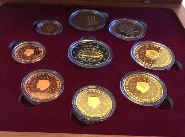 2007 Netherlands 9 Euro Proof Set Special Edition Treaty of Rome 50 Years
