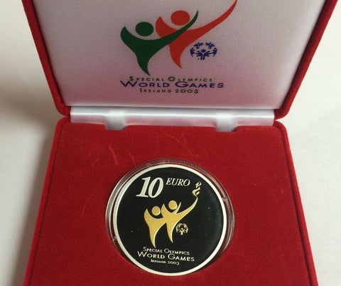 Ireland 2003 Silver Proof 10 Euro Special Olympics World Summer Games Low Mint.