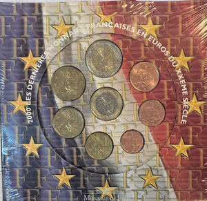 France 2000 Euro Set 8 Coins UNC Monnaie De Paris Special Edition