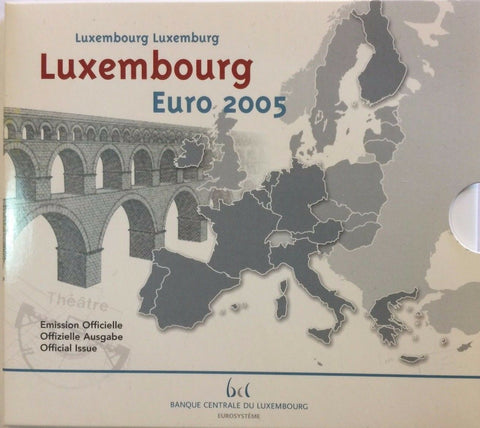 2005 Luxembourg 8 Coins Official Euro Set Special Edition
