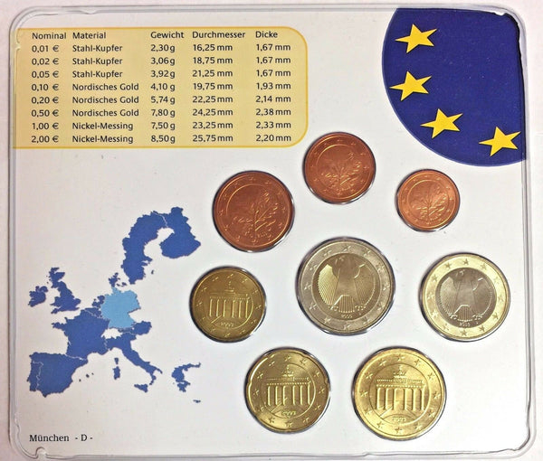 Germany 2003 Euro Official Coin Set Special Edition München Mint D Deutschland