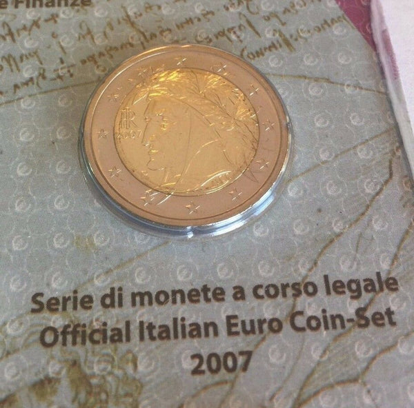 2007 Italy Official Set 9 Coins 5 Euro Silver KYOTO Protocol Special Edition
