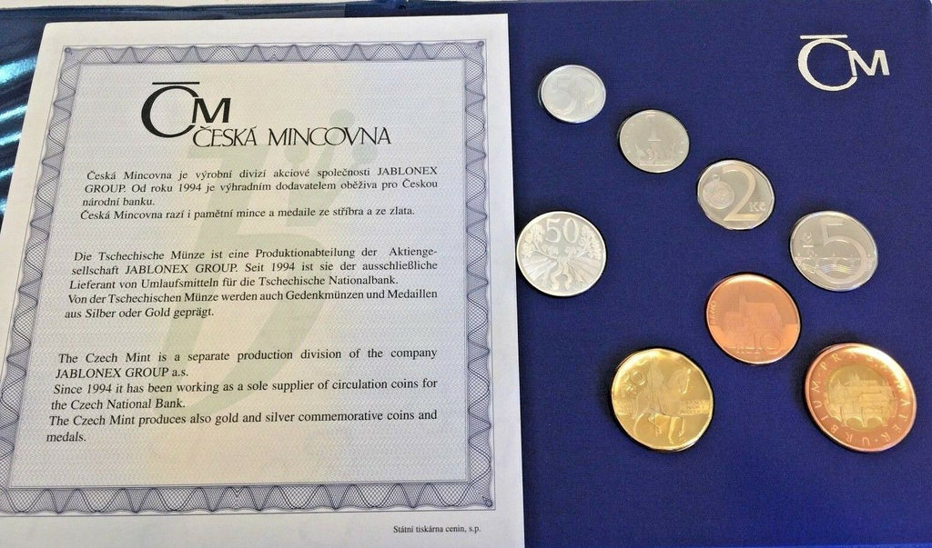 Rare 2006 Czech Republic Official Proof Set 7 Coins + medal in perfect condition