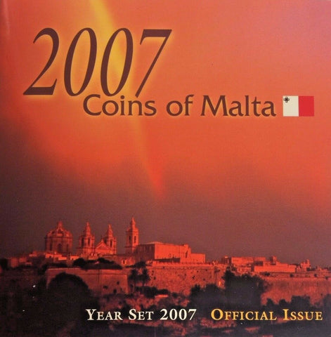 2007 Malta 8 Coins Official Set Special Edition Fish Flowers Bird Crab Ballottra