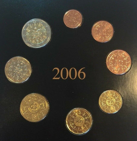 Portugal 2006 Complete Official Euro Proof Set 8 Coins COA