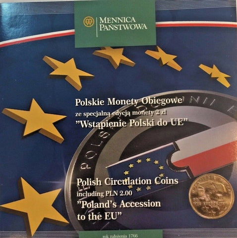 Poland 1995, 1996, 2003 Set 10 Polish Circulation Coins Poland's Accession to EU